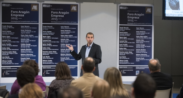 David Espinar de MARKETING de PYMEs en el Foro ARAGÓN EMPRESA 2015