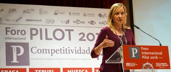 Marta Gastón Consejera del Gobierno de Aragón clausuró el Foro PILOT 2016 TERUEL