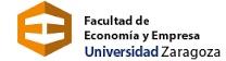 Logo de la Facultad de Economía y Empresa de la Universidad de Zaragoza