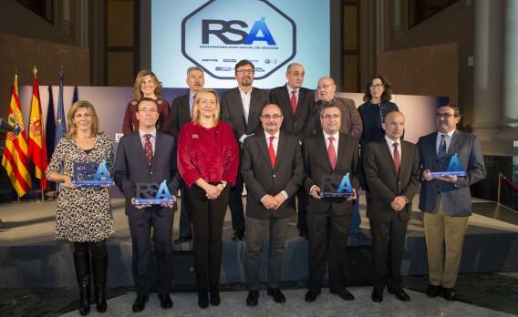 Galardonados y autoridades del Premio RSA 2016