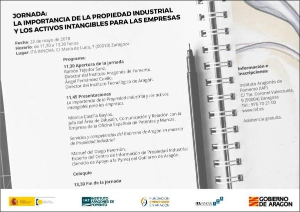 Jornada Propiedad Industrial e Intangibles en la empresa 22 Mayo'18