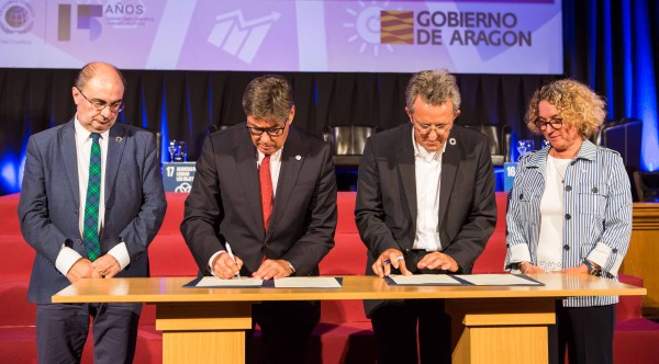 "Firma del Plan de colaboración  ""ARAGÓN y los ODS: Global Goals, Local Business"